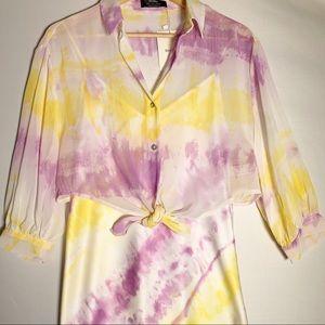 Bershka camisole dress with shirt